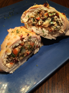 Vegetable Stuffed Chicken