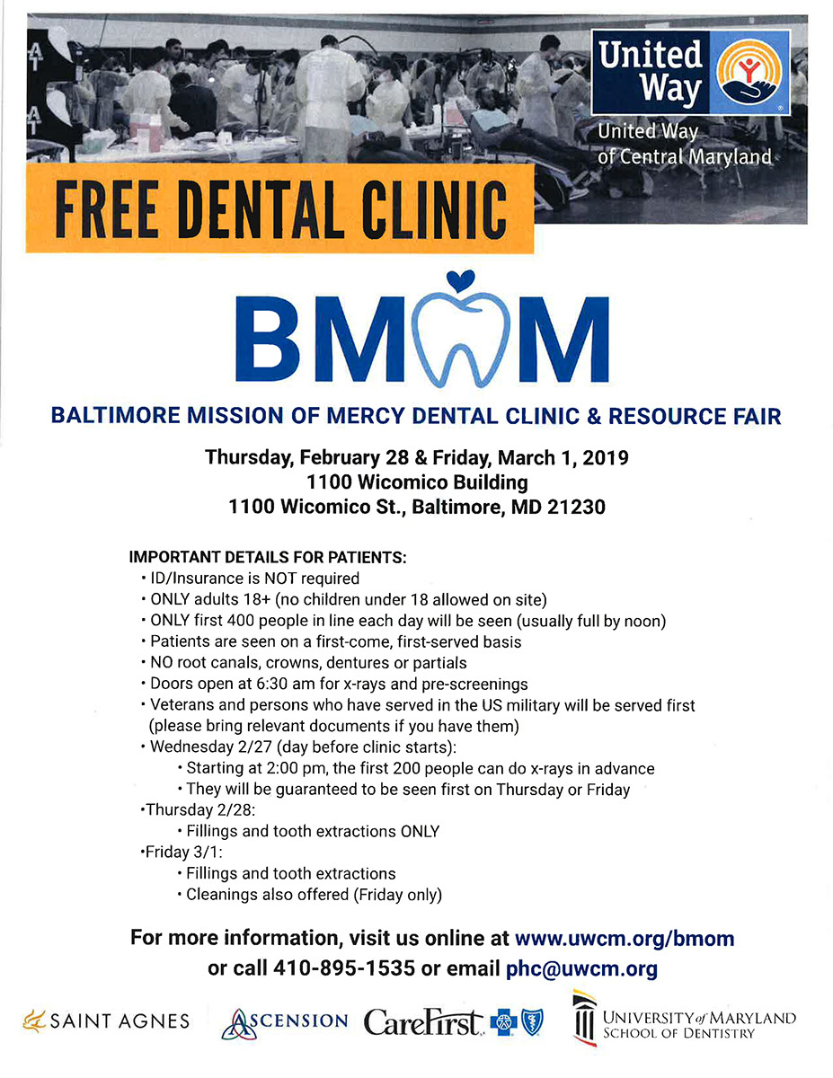 Free Dental Clinic in Baltimore - Healthy Harford - Healthy Cecil